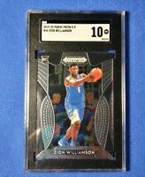 2019-20 Panini Prizm Draft Picks Zion Williamson #64 Rookie SGC 10 ( PSA BGS )