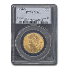1910-D $10 Indian Gold Eagle MS-62 PCGS - SKU#18648