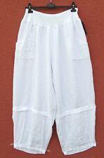 NEU SARAH SANTOS Leinen Hose Schlupfhose Linen Trousers XXL 52 54 Lagenlook **