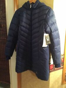 Authentic Spyder Women's Boundless Puffer Coat Abyss Blue MEDIUM MSRP $229 NWT
