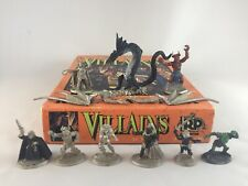 Ral Partha Ad Dungeons & Dragons Villains Miniature Set 10-504 Complete 9 Figs