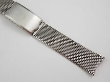 Vintage New Old Stock JB Champion Mesh watch band bracelet 17mm 6 inches long