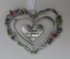 zzz The heart of a home is love Blooming Lovely 3d Heart Ornament ganz