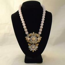 LYDELL NYC PINK BEAD RHINESTONE CLUSTER CHUNKY STATEMENT NECKLACE FREE SHIP UG