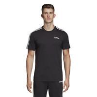 adidas Herren Sport Freizeit T-Shirt Essentials 3 Stripes Tee schwarz weiss