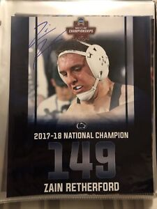 Zain Retherford Penn State PSU Wrestling NLWC Autograph Custom 8x10 Photo