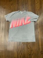 Nike Big Logo Tee Shirt Men's Extra Large Heather Gray