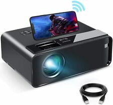 1080P HD WiFi Mini Projector Smartphone 4600 Lux Compatible with Android/iOS