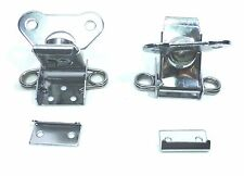 (2) Two Exterior Butterfly Latches with Keeper Plate (Chromed Finish)