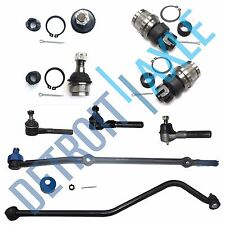 All (4) Front Ball Joints + All (4) Tie Rods + Drag Link Jeep Cherokee Comanche