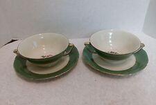 Vintage Royal Epiag, Cream Soup Bowls with Saucers