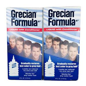 Grecian Formula Liquid Hair Color Restorer with Conditioner 4 oz - 2 Pack Lot
