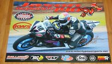 2014 Jason duplantis signiert xxxxx Motorsports Yamaha YZF-R6 Supersport AMA Poster