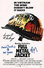 "MATTHEW MODINE & R.LEE ERMEY+1 Hand-Signed ""FULL METAL JACKET"" 11x17 photo JSA"