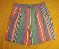 Nautica 34 35 Men's Pleated Multi-color Cotton Casual Shorts READ