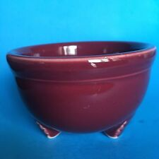 Homer Laughlin Fiesta CINNABAR Tripod Bowl Never Used, First Quality