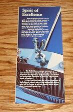 Original 1985 Rolls Royce Bentley Foldout Sales Brochure 85 Silver Spirit