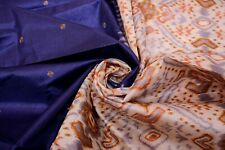 Vintage Indian Silk Saree Printed Used Sari Craft Fabric 5 Yard Dress Fabric