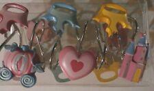 Disney Princess Shower Curtain Hooks Set of 12 carraige castle hearts crowns