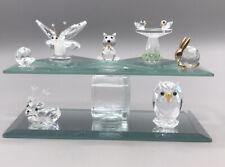 Lot of 7 Crystal animal figurines some SWAROVSKI DEER MOLLUSK SQUIRREL BUTTERFLY