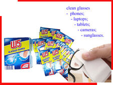 W5 Cleaning Wipes Box Lens Cloths 54 Pcs Glasses Camera Phone Tablet Laptop TV