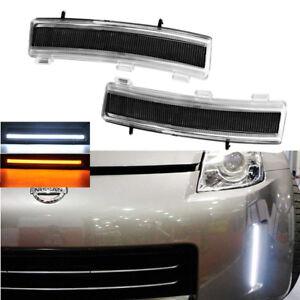 350Z Z33 06-09 FACELIFTED DRL Daytime Running LED Light Side Marker for NISSAN