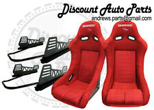 BRIDE VIOS 3 III Red Gradation Seats Low Max BUCKET w/ v2 LONG MOUNT + SLIDERS