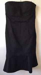 Gorgeous R.E.D. Valentino Black Strapless Dress Size 44