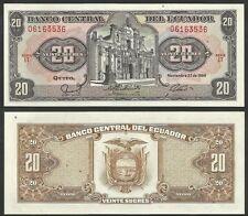 ECUADOR - 20 Sucres 22.11.1988  Pick 121Aa  UNC  (2)