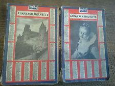 lot de 2 almanach Hachette 1954 et 1956