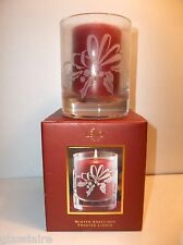 Lenox WINTER GREETINGS FROSTED LIGHTS Christmas Candle And Holder NIB
