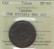 NOVA SCOTIA 1813 Halfpenny Token Breton 965 NS-21A1 Landon ICCS EF40 Inv 3680