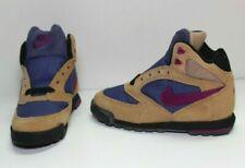 New RARE! Nike Caldera Plus GPS Suede Brown Leather Purple SZ 13Y (152019 250)