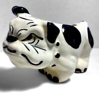 Pair Vintage Bulldog Dog Planter Ceramic Figurine Art Pottery 1940-50s Marked