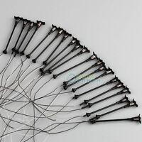 20pcs Single Head Home Garden Lamppost Lamp 1:100 HO Scale Model Layout Scenery