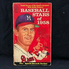 Baseball Stars of 1958 Lew Burdette  PYRAMID BOOKS -MICKEY MANTLE TED WILLIAMS