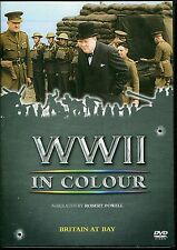WWII IN COLOUR BRITAIN AT BAY DVD NARRATED BY ROBERT POWELL