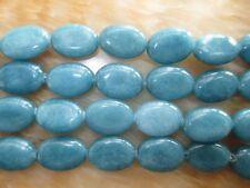 "13x18mm Natural Brazilian Blue Aquamarine Oval Gemstone Loose Beads 15"""