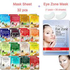 3 Pcs Moisture Essence Face Mask Sheet Korea Beauty Facial Skin Care 16 Types Placenta