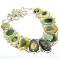 "Imperial Jasper Gemstone 925 Silver Fashion Jewelry Necklace 18"" N12084"