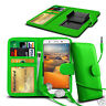 For Lenovo P780 - Clip On PU Leather Wallet Case & Earphone