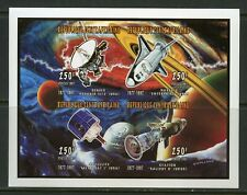 CENTRAL AFRICA 250FR  VOYGER SHUTTLE SALIOUT SPACE STATION  IMPERF SHEET MINT NH