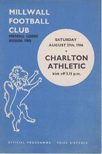 MILLWALL v CHARLTON ATHLETIC ~ 27 AUGUST 1966 ~ EXCELLENT CONDITION
