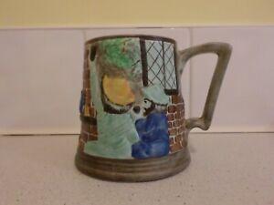 """Radford """"Village Tavern"""" Handpainted Large Tankard / Mug"""