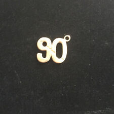Broke 90 Gold Tone Metal Golf Charm 3/4 x 3/4 inch