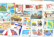 Flags on stamps collection 100 all different