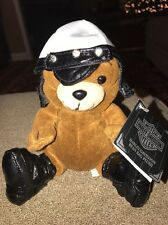 """Harley-Davidson Motorcycle Plush Biker Bear """"BIG TWIN"""" With Tags from 1997 (KC)"""