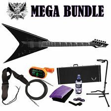DEAN V Dave Mustaine Stradi VMNT Classic Black CBK Guitar NEW - MEGA BUNDLE!