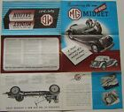 MG Range TD Midget & 1¼ litre Saloon Original UK Sales Brochure 1950