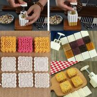 6Pcs 50g Moon Cake Mold DIY Square Pastry Biscuit Baking Mould Decor Tool